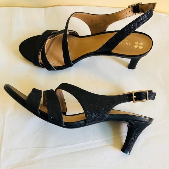 53bbb1bb8d1b Naturalizer Taimi dress Sandal sparkly black NEW. M 5b4fee7d8869f738a8b4a403